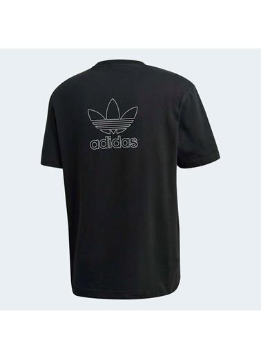 adidas Erkek İki Yüzü Baskılı Trefoil Tişört GE0826 Siyah